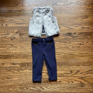 Genuine Kids From Osh Kosh Furry Vest And Pants